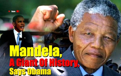 Mandela,  A giant of history – Obama