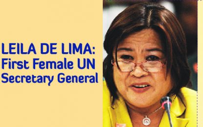 Leila De Lima: First Female UN Secretary General